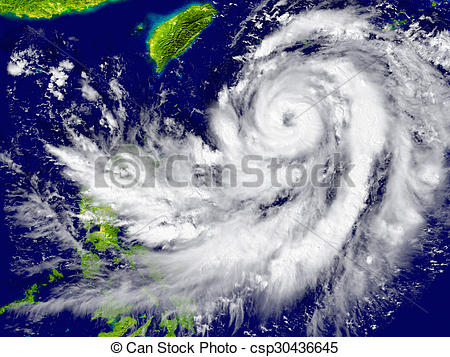 Stock Photo of Hurricane approaching Southeast Asia.