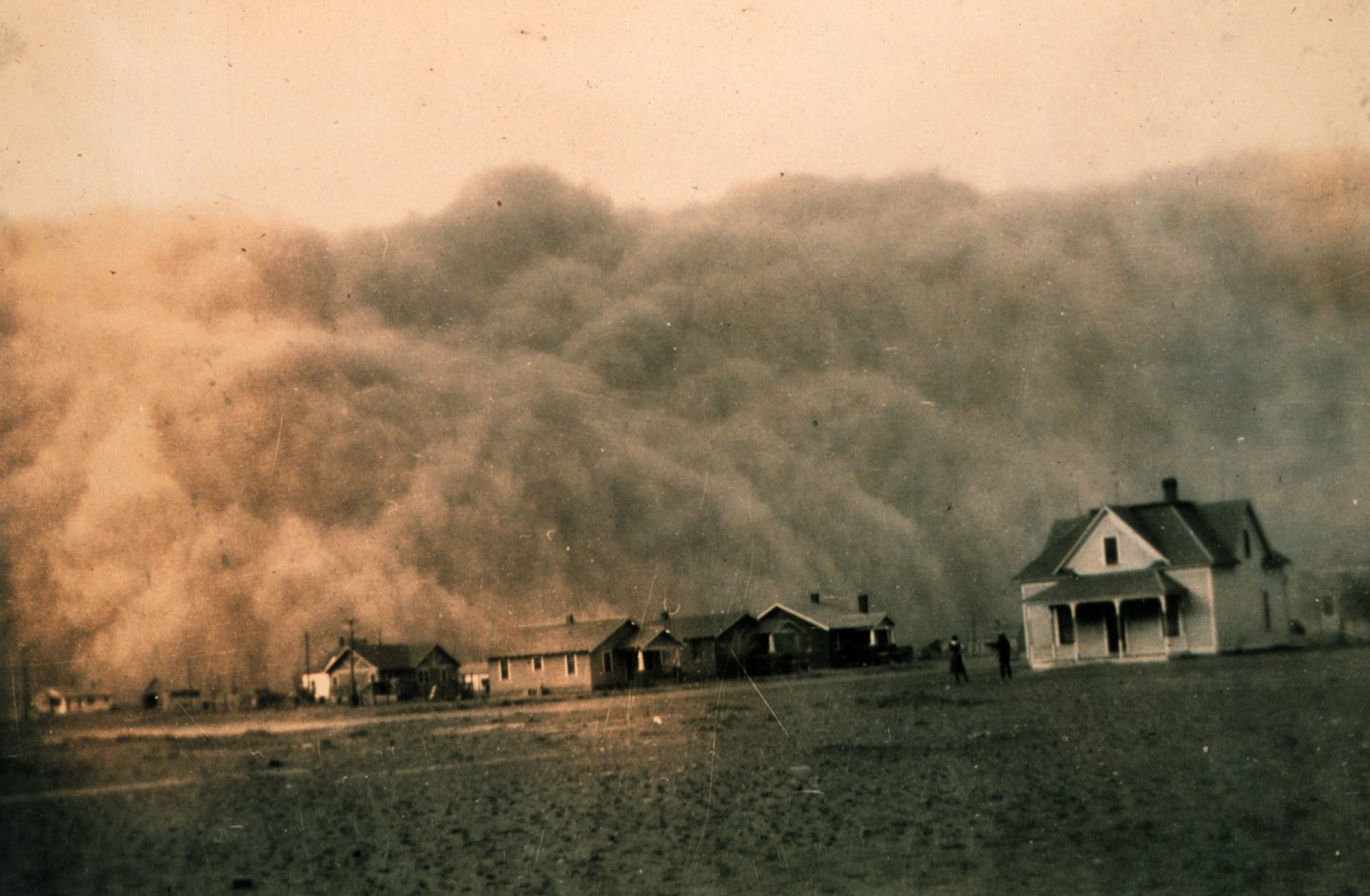 Stock Photo of a Dust Storm Approaching Stratford, Texas, April.