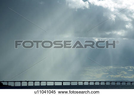 Stock Image of Scotland, Dundee, Broughty Ferry, A storm.