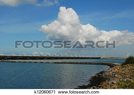Stock Photography of storm surge barrier k12060671.