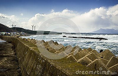 Storm Barrier Stock Photography.