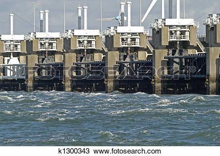 Stock Photo of Storm surge barrier k1300343.