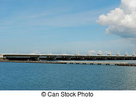 Stock Photographs of Storm flood barrier.