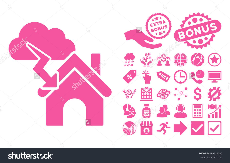 Storm Building Icon Bonus Icon Set Stock Vector 489529000.