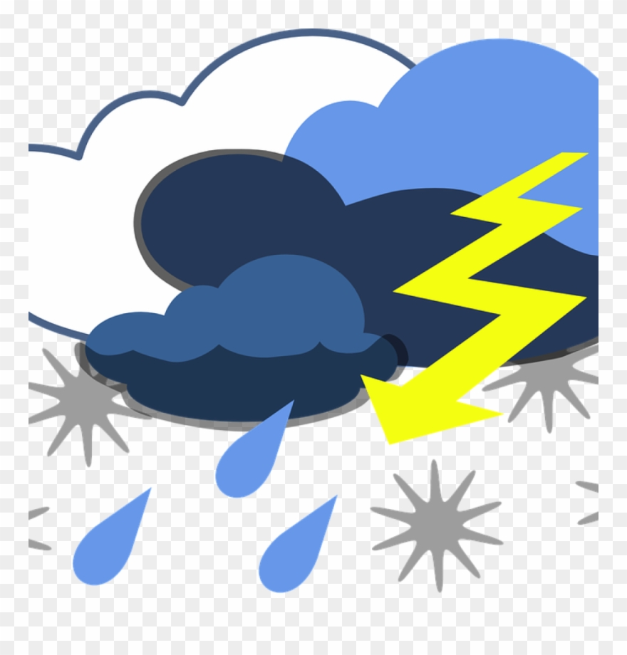 Storm Clipart Lightning Thunder Free Vector Graphic.