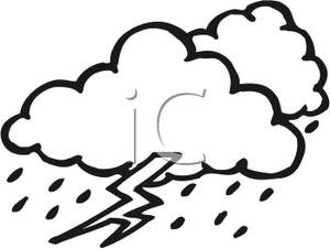 Storm Cloud Clipart Black And White.