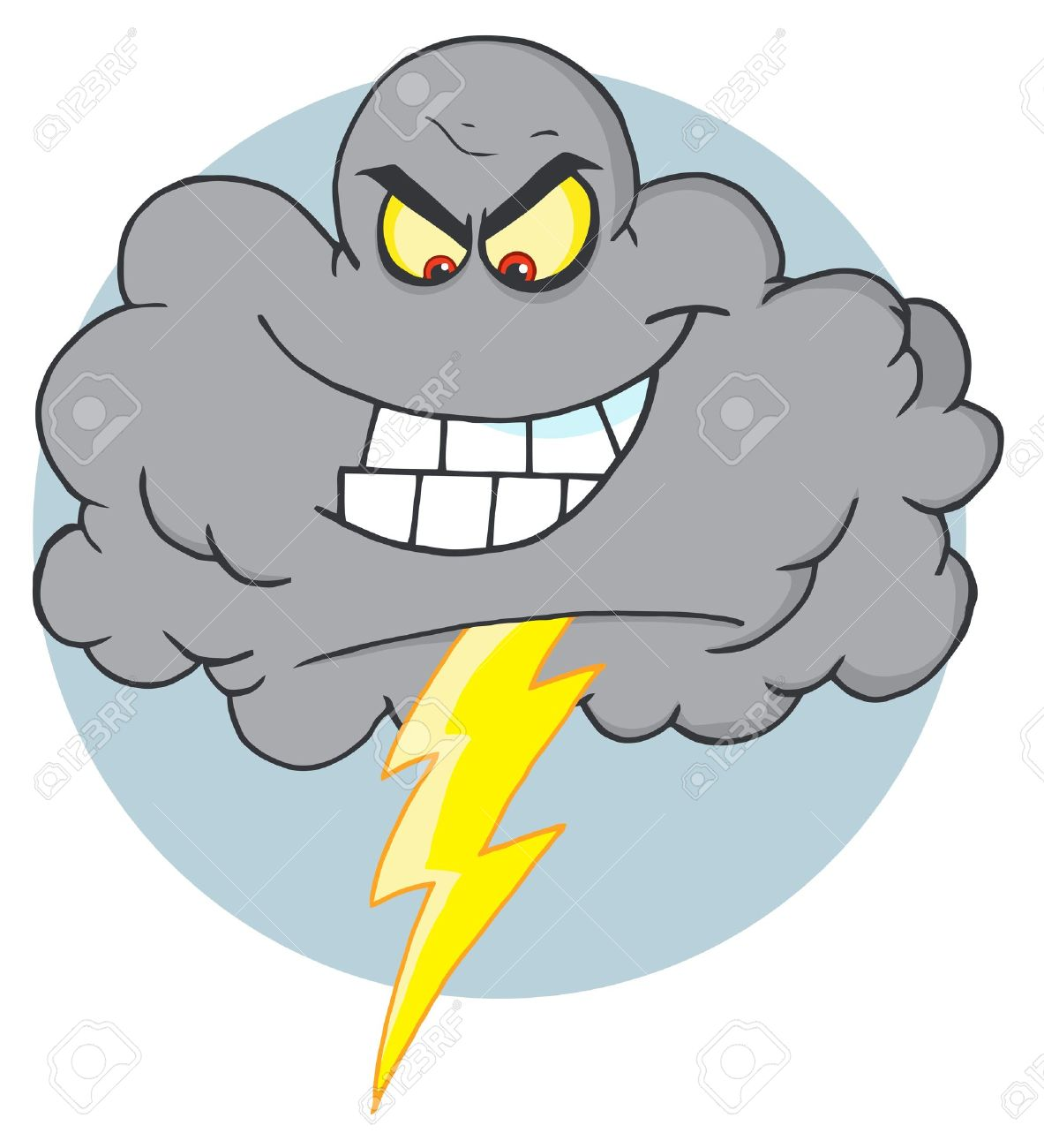 Angry storm cloud clipart.