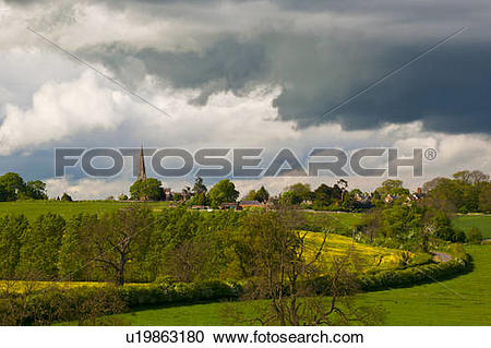 Stock Photography of England, Northamptonshire, Brampton Ash.