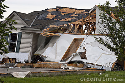 Storm Damage Royalty Free Stock Images.