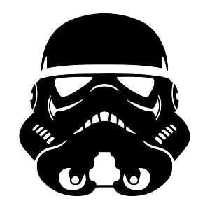 SW Stormtrooper Pilot Helmet Vinyl Decal.