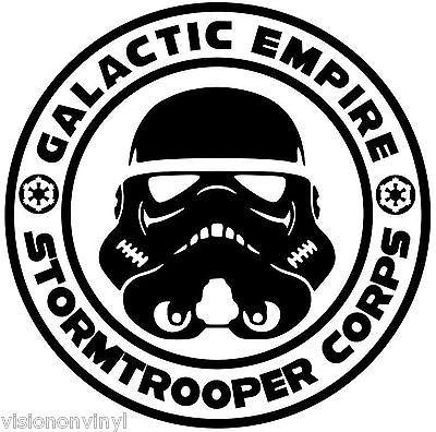 Star Wars Stormtrooper Corps Logo Vinyl Car Decal Sticker.