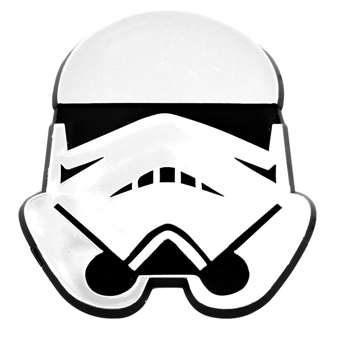 Stormtrooper Helmet Chrome Auto Emblem.