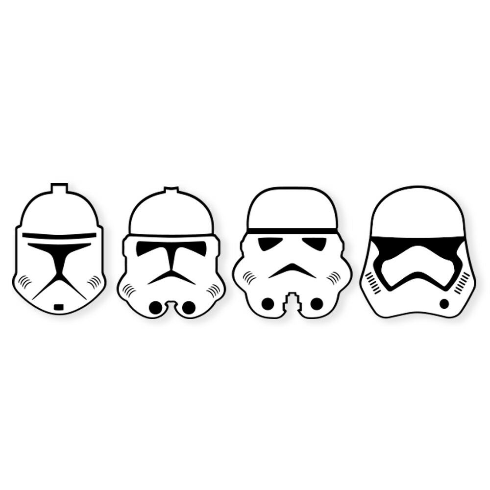 Details about Stormtrooper Logo Decal Vinyl Sticker.
