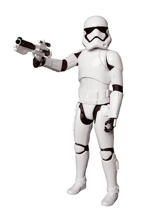 Storm Trooper Figure transparent PNG.