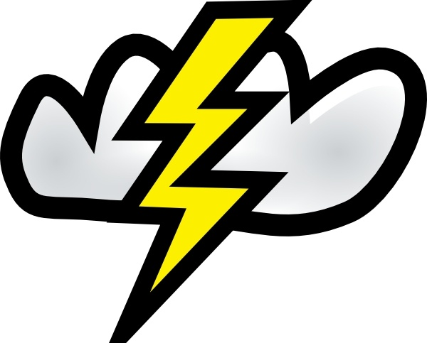 Thunder Storm clip art Free vector in Open office drawing svg.