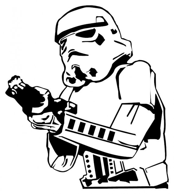 266 Stormtrooper free clipart.