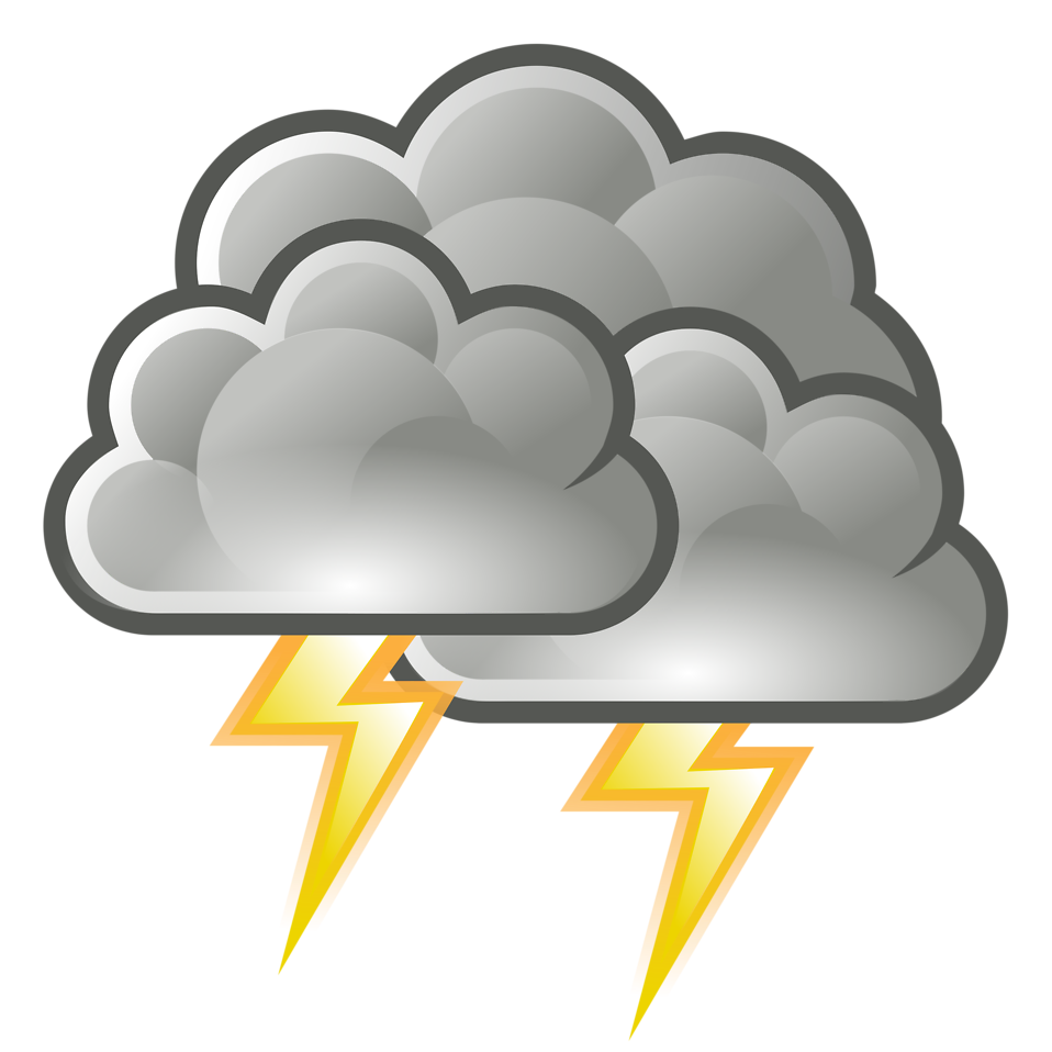 Stormy Clouds Clipart.