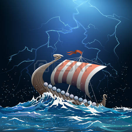 Stormy water clipart.