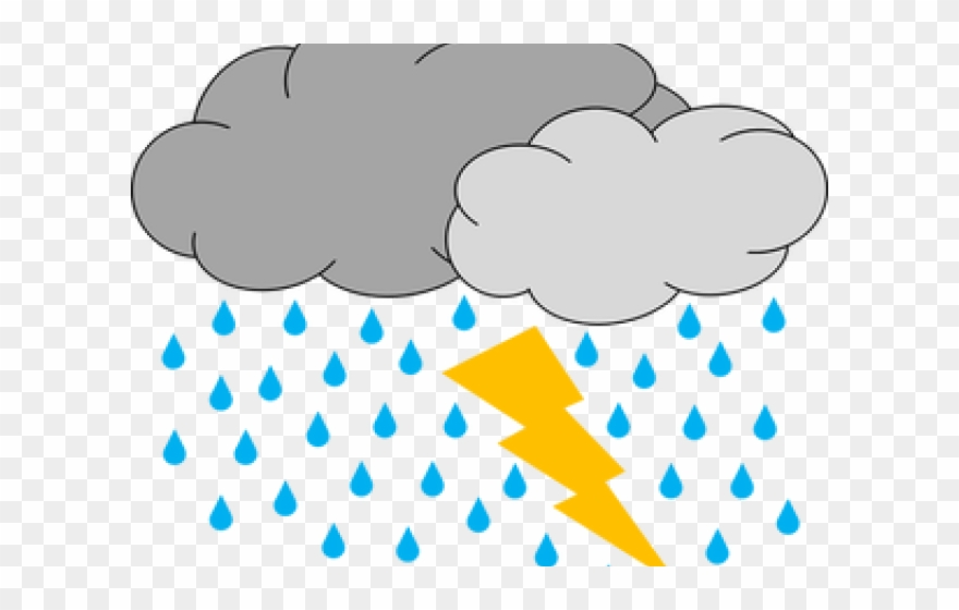 Thunder Clipart Bad Weather.