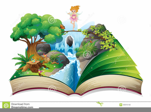 Open Story Book Clipart.