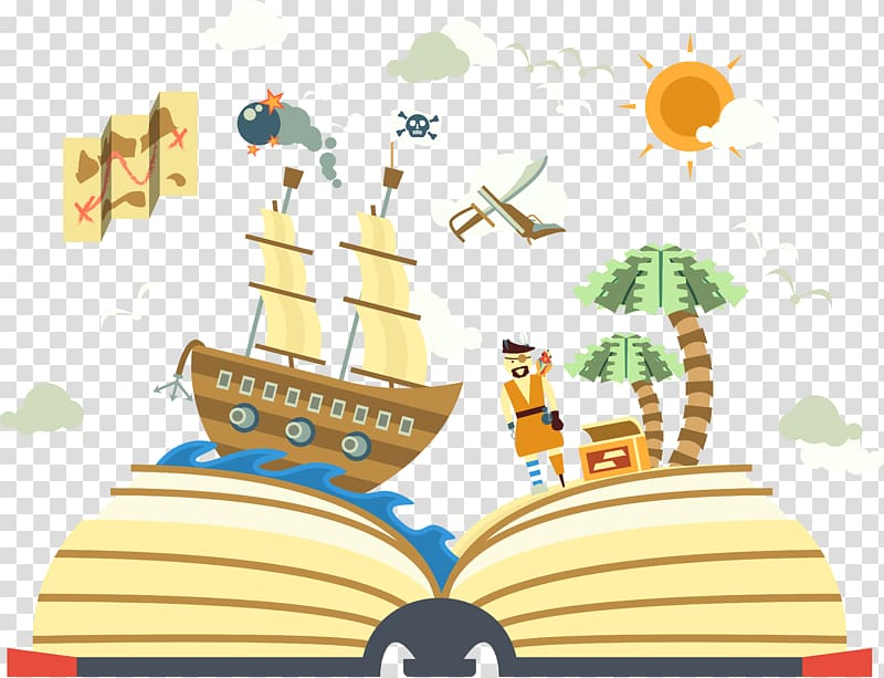 Story book illustration, Euclidean , Book of pirate world.