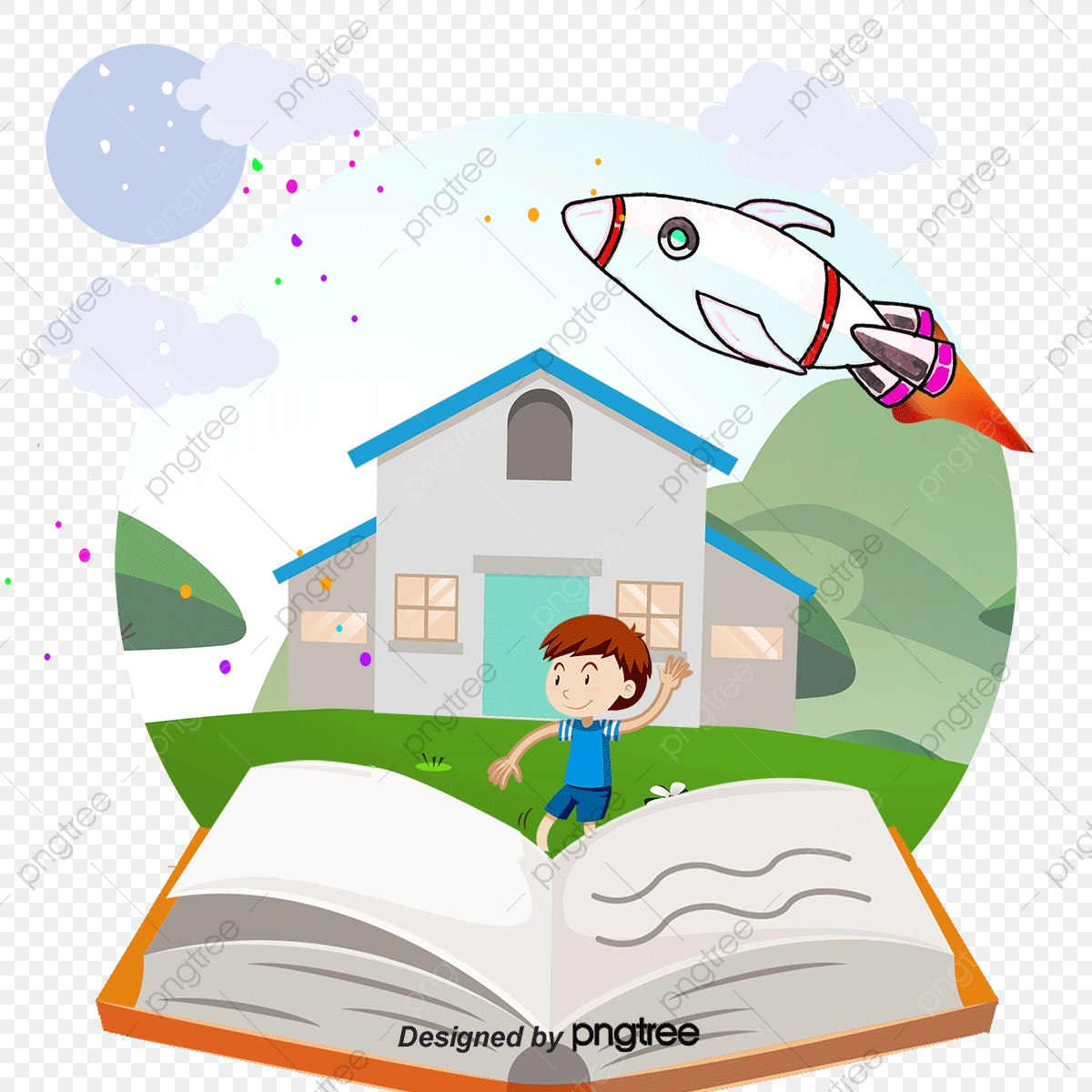 Childrens Story Book, Book Clipart, Book, Cartoon PNG and.