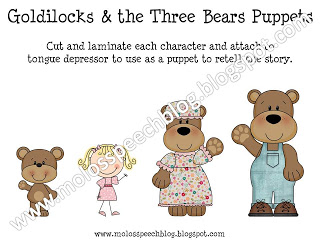 Mo Lo's Speech Blog: Goldilocks and The Three Bears Speech.