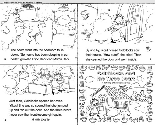 Goldilocks and the Three Bears story sequencing sheets..