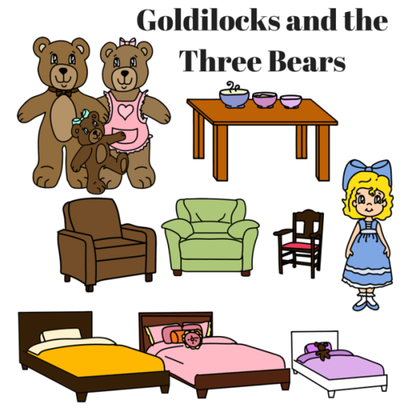 Printable Story Book Characters Little Red Riding Hood, Goldilocks.