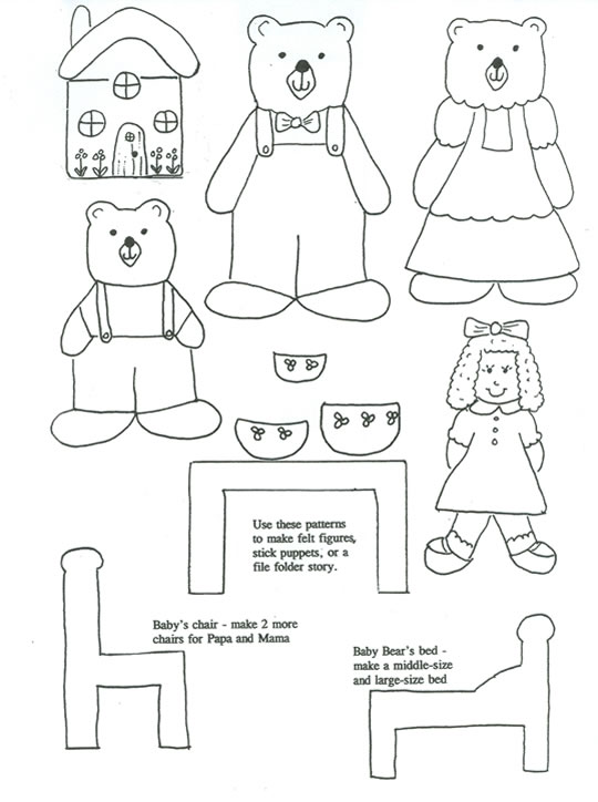 Free finger puppet print outs for many of the classic fairy tales.