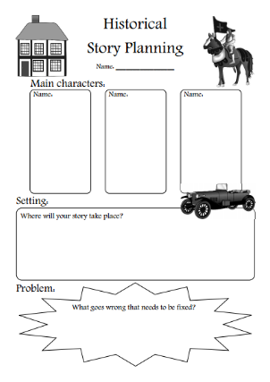 Story Writing and Fiction Teaching Resources and Printables.