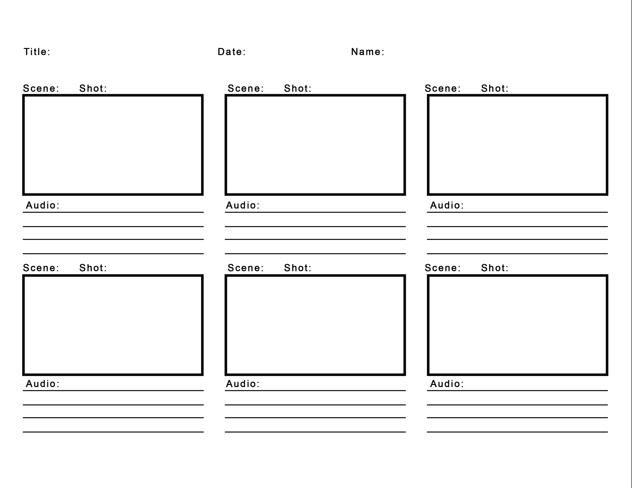 Downloadable Storyboard Templates for Broadcast Journalism.