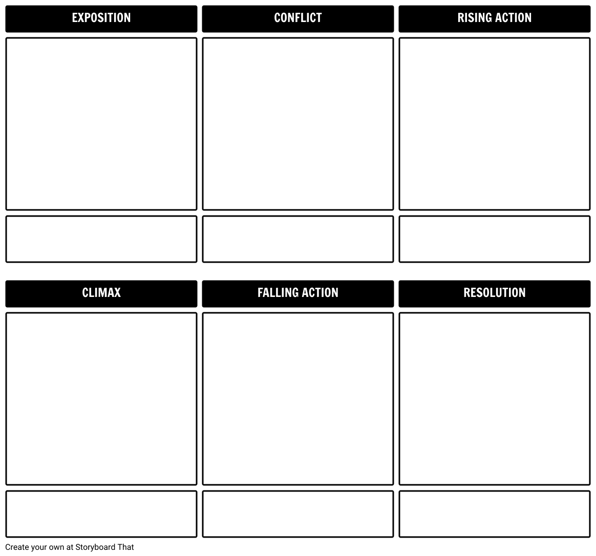 Story Outline Storyboard Template Storyboard by rebeccaray.