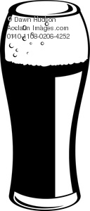A Pint Glass Of Beer Lager Or Stout Clipart Image.