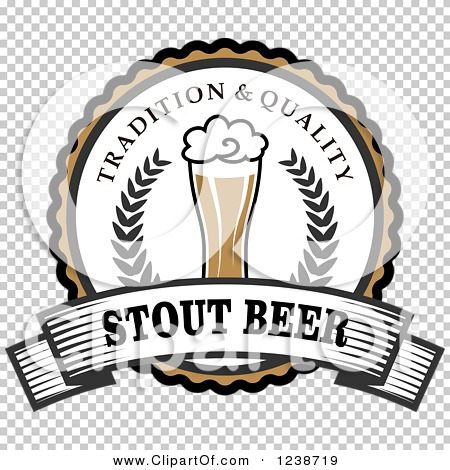 Clipart of a Stout Beer Label.