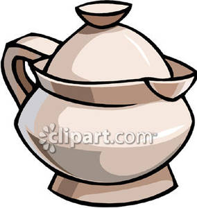 Stout Teapot with Lip and No Spout Royalty Free Clipart Picture.