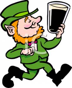 Smiling Leprechaun With A Pint Of Stout.