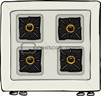 Birds eye view stove clipart.