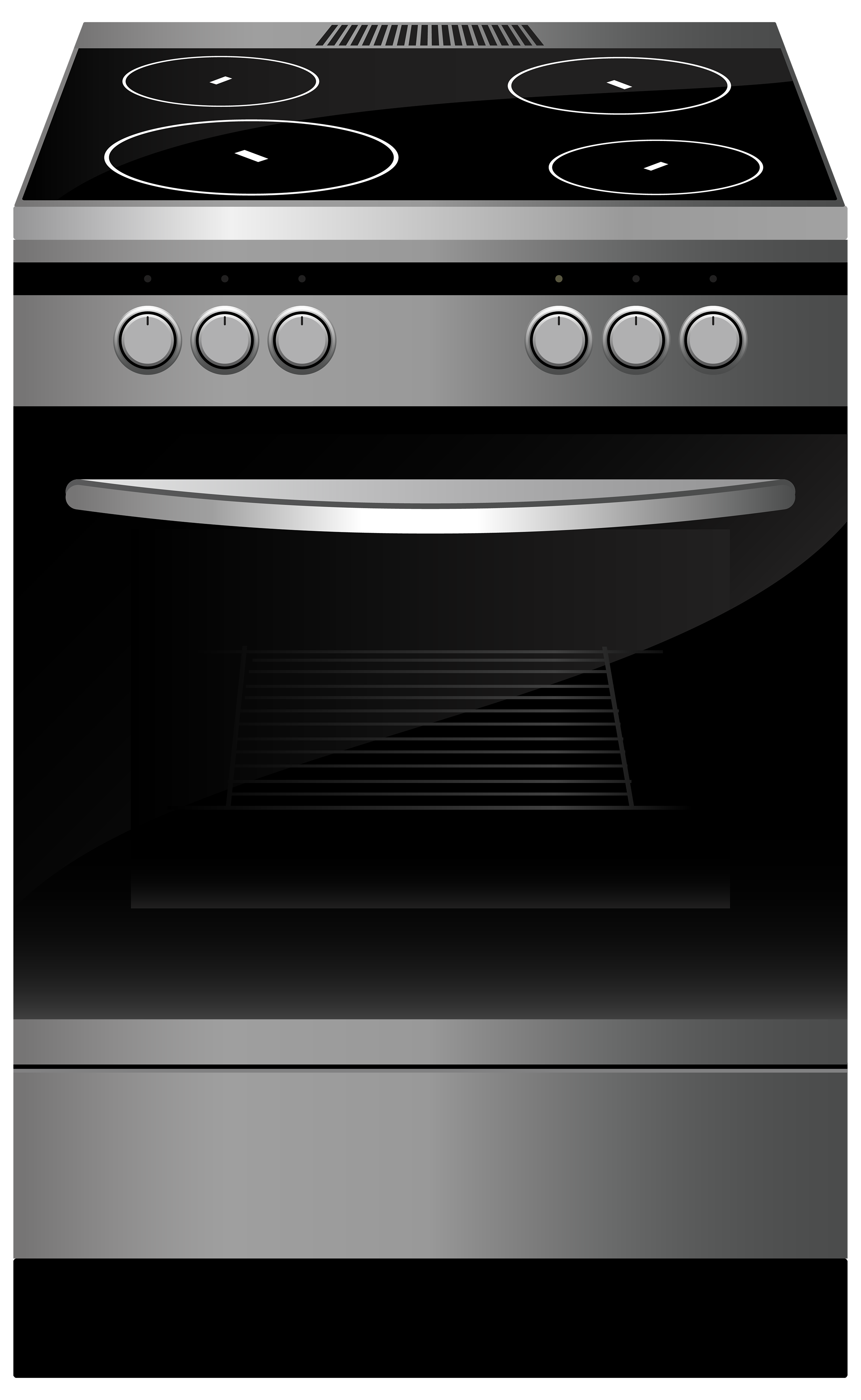 Black Stove PNG Clipart.