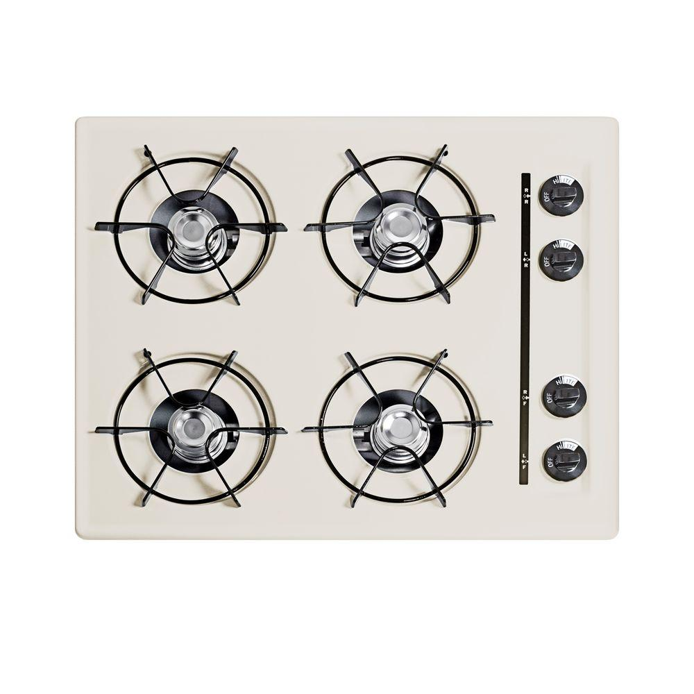 Summit Appliance 24 in. Gas Cooktop in Bisque with 4 Burners.
