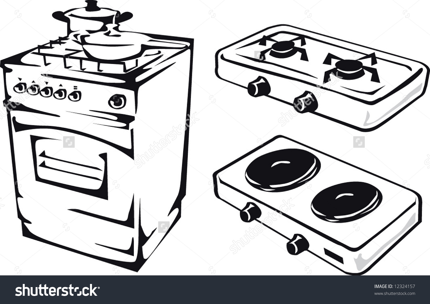 Stove clipart black and white 2 » Clipart Station.