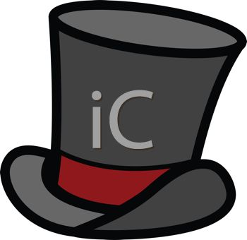 Cartoon of a Stovepipe Top Hat.