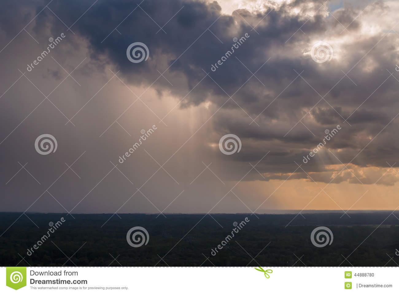 Pouring Rain Royalty Free Stock Photography.