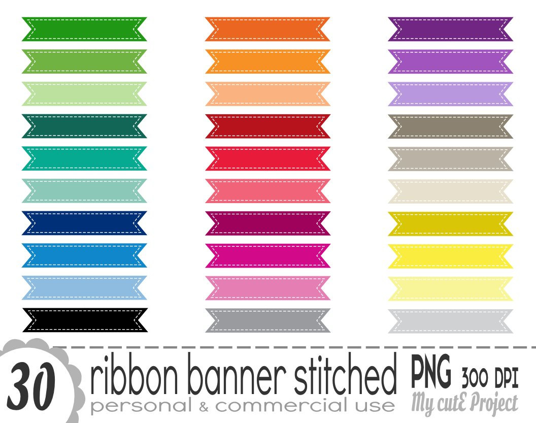 Straight Banner Clipart.