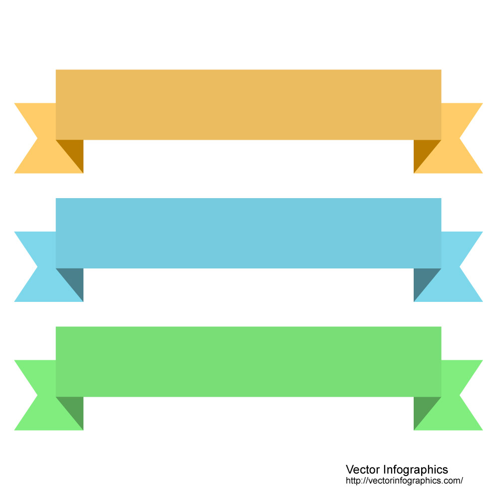 Folded ribbons, download free vector clipart images, by http.