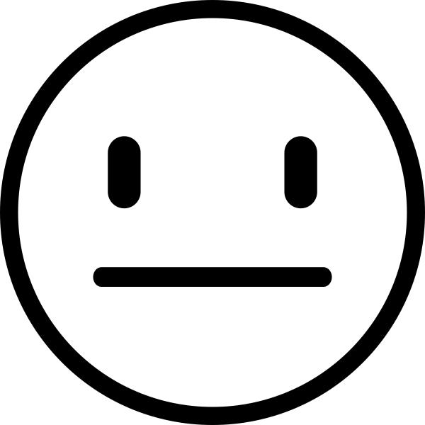 Straight Face Emoji Teacher Craft Stamp.