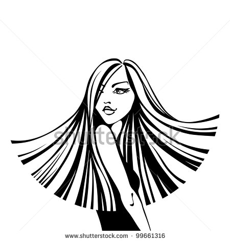 Straight hair clipart 6 » Clipart Station.
