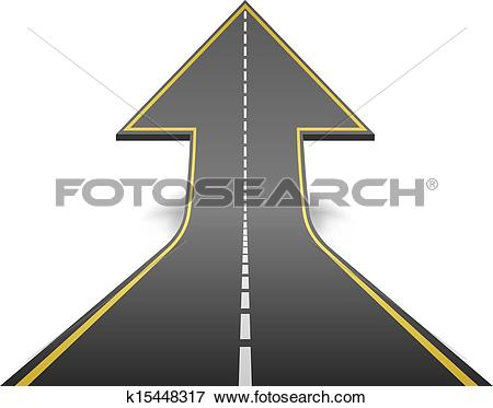 Clipart of Straight road in motion k6501155.