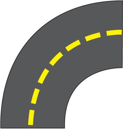 A straight road clipart.
