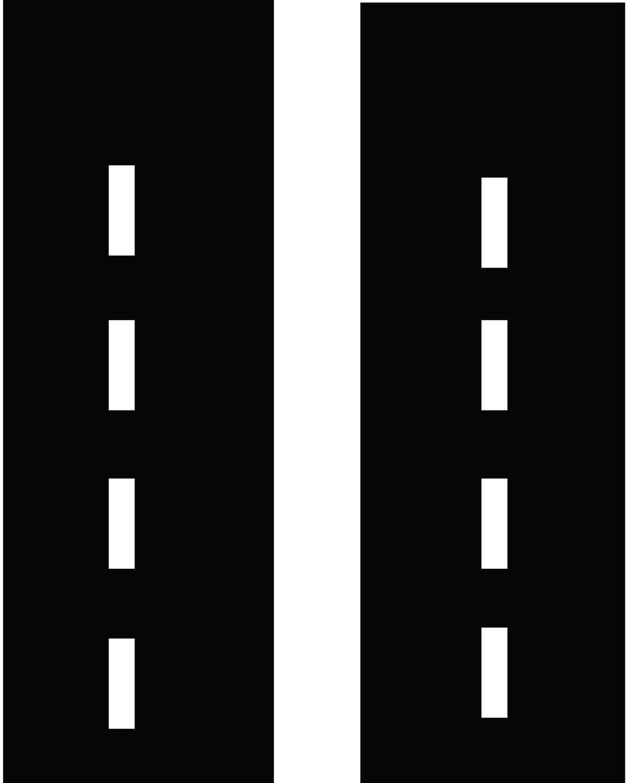 A Straight Road Clip Art.